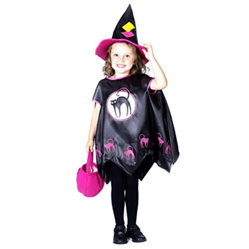 Halloween Cosplay Party Children Costume Witch Skirt Suit Performance Wear