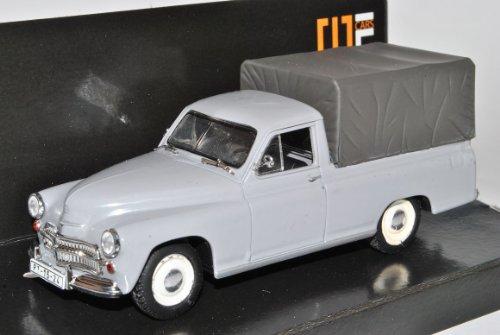 Warszawa 200 Pick-Up Pritsche Grau 1/43 Nash Avtoprom Modell Auto