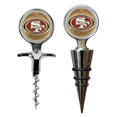 San Francisco 49Ers Cork Screw And Wine Bottle Topper Set front-636702