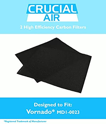 2PK Vornado MD1-0023 Carbon Filters Fit AC300 & AC500 Air Purifiers, Designed & Engineered by Crucial Air