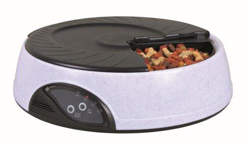 Trixie TX4 automatico Dispenser alimentare, 500ml / 32 cm x 9 cm, Granito / nero, confezione da 4