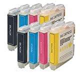 2 Compatible Sets of Brother LC970 / LC1000 Printer Ink Cartridges (8 Inks) - Black / Cyan / Magenta / Yellow for Brother DCP-130C DCP-135C DCP-150C DCP-153C DCP-157C DCP-330C DCP-350C DCP-353C DCP-357C DCP-540CN DCP-560CN DCP-750CN DCP-750CW DCP-770CW F