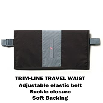 SWISS TRIM LINE TRAVEL WAIST WALLET BLACK BAG SECURITY
