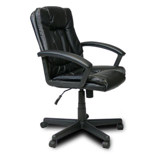 FURINNO WA-6146-4 Hidup Boss High Back Leather Executive Chair, Black