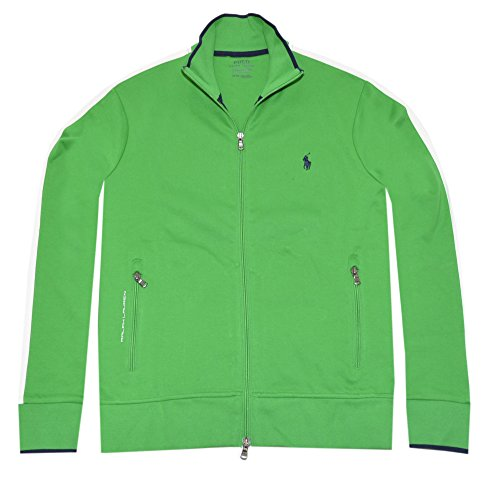 Polo Ralph Lauren Mens Full-Zip Athletic Performance Track Jacket (Green, XX-Large)