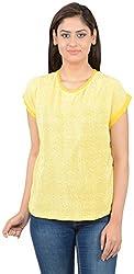 MERCH21 Women's Regular Fit Top( MERCH0049, Yellow, XXL)