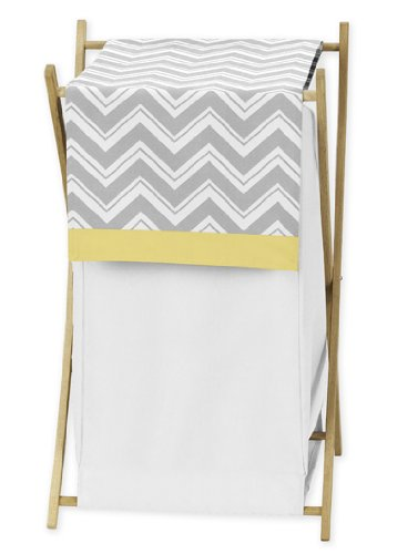 Find Discount Baby/Kids Clothes Laundry Hamper for Yellow and Gray Chevron Zig Zag Bedding by Sweet ...