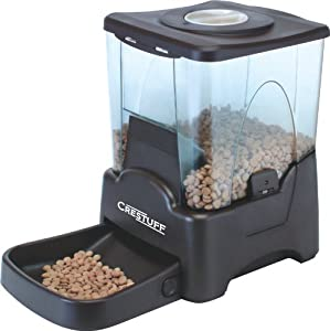 Crestuff Automatic Portion Control Dog and Cat Pet Feeder (45 Cups) with LCD Screen and Meal Time Message Recorder