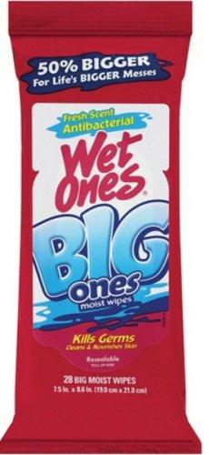 Wet Ones Big Ones Fresh Scent Antibacterial Wipes 28Ct front-648775