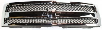 Evan-Fischer EVA17772019996 Grille Assembly Grill Plastic shell and insert Chrome with black (2008 Silverado Grill Insert compare prices)