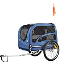 Orignial Doggyhut Large Pet Bike Trailer Dog Bicycle Carrier Blue 6030202
