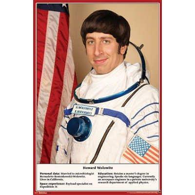 拥磊向周边产品:《生存大爆炸》Howard 太空人肖像(海报)  22*34英寸 $9.8+3.99
