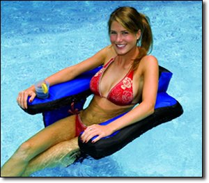 NT123 Fabric Covered U-Seat Pool Float