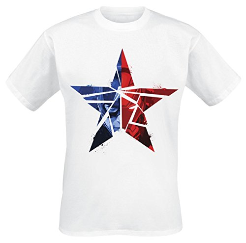 Captain America Civil War Cracked Star T-Shirt bianco S