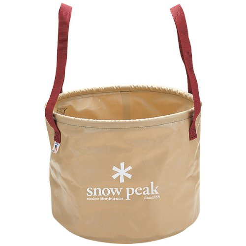 Snow Peak Pack Bucket Jumbo, 25-Liter, Beige
