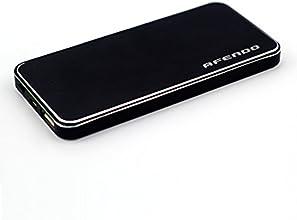 AFENDO® 4000mAh Ultra-Dünne Ultra Kompakt tragbare Ladegerät Pack Externe Mobile Backup Batterie USB- Ausgang Portable smart Starker Power Bank (Externer Akku-Pack und Ladegerät) 1A Ausgang mit 5W LED-Taschenlampe mit hoher Kapazität Notfall Ladegerät für iPad, iPad 2,3, iPhone 6, 5S, 5C, 5, 4S, 4, 3Gs 3G, 3, iPod, Blackberry, HTC, Android, Samsung, Nokia, Sony, Motorola, alle Generationen Mp3 Mp4 Player und Smart Phones und Bluetooth-Lautsprecher, Bluetooth-Kopfhörer, die meisten Bluetooth-Geräte 5V und anderen digitalen Geräten (Apple-Adapter-30-Pin-und lightning, nicht enthalten) mit 18 Monate Herstellergarantie (schwarz)