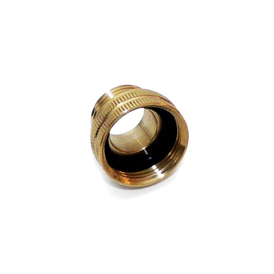 Underhill A BA107FM Solid Brass Hose Adapter, Converts 3/4 Inch Attachments to 1 Inch Hose, 1 Inch FHT by 3/4 Inch MHT