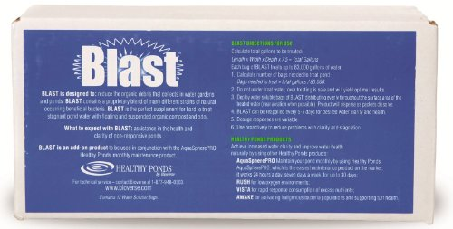 Healthy Ponds® 11004 Blast, 3.17 Pound Box of 12 Water Soluble Packets