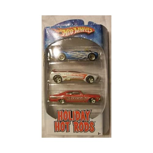 2009 Hot Wheels Holiday Hot Rods 65 Impala, Austin Healey, Whip Creamer II