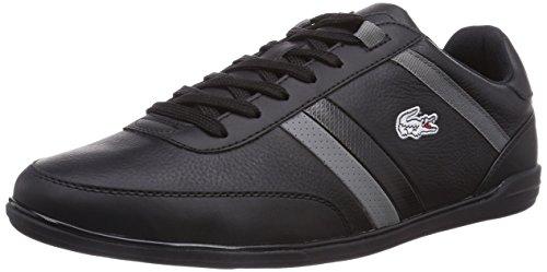 Lacoste GIRON SCY, Low-Top Sneaker uomo, Nero (Schwarz (BLK/DK GRY 237)), 45