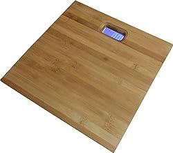 Virgo Digital Wooden Bamboo Body Weighing Scale (Brown)