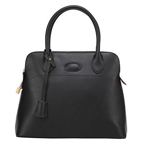 Fashion Pu Leather Clutch Cross-Body Shoulder Handbag 0320260) (Black)