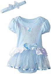 Disney Baby Girls\' Cinderella Dress with Headband, Blue, 18 Months