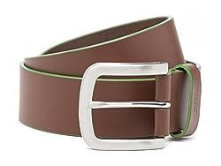 Breakbounce Men's Leather Belt (8907066080286_Medium_Tan)