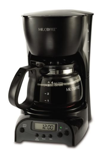 Mr. Coffee Drx5 4-Cup Programmable Coffeemaker, Black, Free Shipping, New