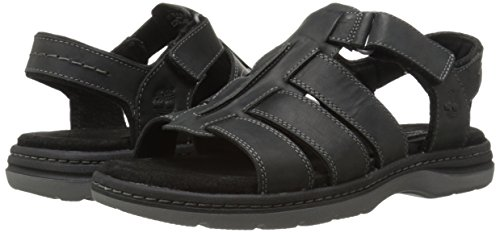 Timberland Men's EK Altamont 2.0 Open Toe Fish Espadrille Sandal, Black Full Grain, 8 M US - 1