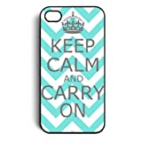 Keep Calm and Carry On Zigzag Snap on Case Cover for Apple Iphone 4 Iphone 4s Cellphone Case