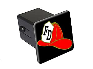 "Fireman Hat - 2"" Tow Trailer Hitch Cover Plug Insert"