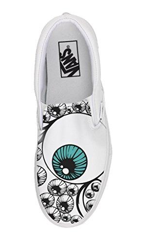 Vans Slip On Personnalisé et Imprimés - chaussures à la main - produit Italien - Eyes