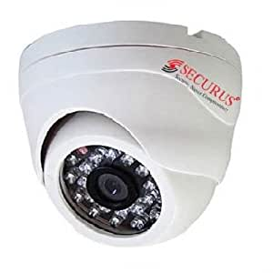 SECURUS IR DOME CAMERA  720 TVL   3.6 MM. GLASS LENS  available at Amazon for Rs.3250