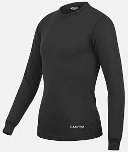 Boys CAMPRI Thermal Long Sleeve Baselayer Sports Top - Black - (LB)