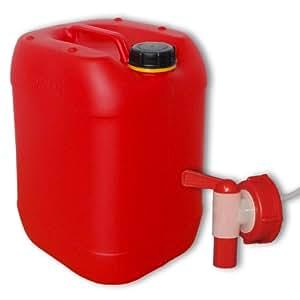 30 liter rot kanister hahn din 61 auto. Black Bedroom Furniture Sets. Home Design Ideas