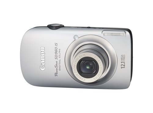 Canon PowerShot SD960IS 12.1 MP Digital Camera with 4x Wide Angle Optical Image Stabilized Zoom and 2.8-inch LCD (Silver)