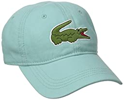 Lacoste Men\'s Classic Large Croc Gabardine Cap, Galapagos Green, One Size
