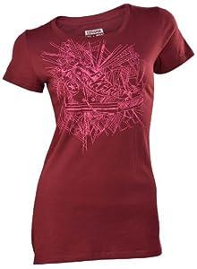 Converse Women's Chuck Taylor All Star Transparent T-Shirt-Maroon-XS