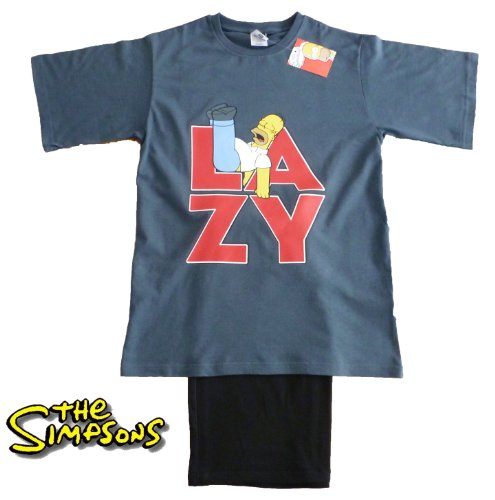 Mens Homer Simpson LAZY Short Pyjamas