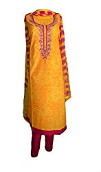 eco haat Hand Crafted Ethnic designer partywear unstitched super fine cotton Salwar Suit Dress Material with zari work