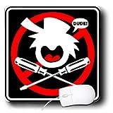 Mark Grace SCREAMNJIMMY Hand Tools - DANGER DUDE screwdriver black sign 2 - MousePad (mp_17620_1)