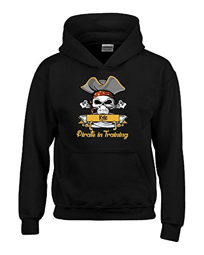 Halloween Costume Kyle Pirate In Training Kids Boy Girl Gift - Kids Hoodie Black Kids XL