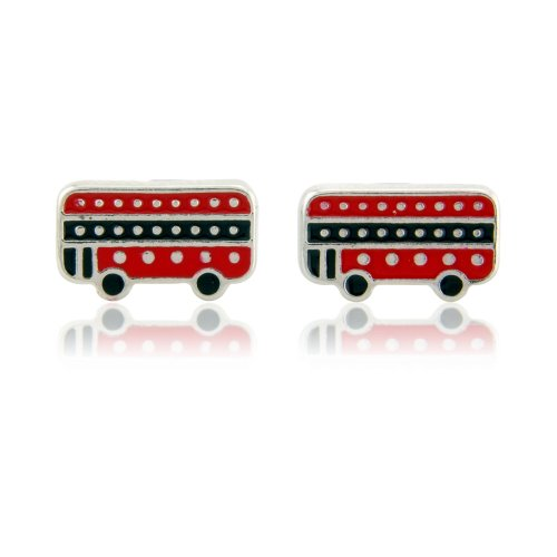 Fun London bus - Stud earrings perfect for women and children for pierced ears includes beautiful gift bag