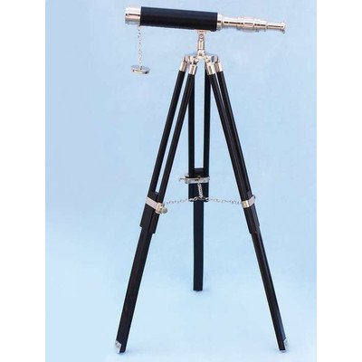 Floor Standing Harbor Master Decorative Telescope Finish: Chrome
