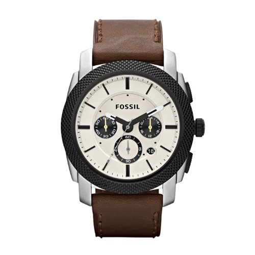 Fossil Men's FS4732 Machine Brown Leather Watch