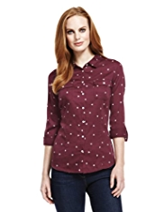 M&S Collection Pure Cotton Heart Print Shirt