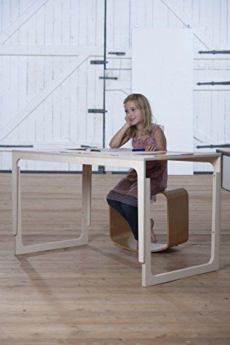 grau-SIBIS-VACLAV-Hhenverstellbarer-Kindertisch-aus-Holz-und-Filz-ab-6-Jahren