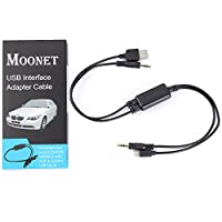 Moonet Bmw Mini 35mm Usb Interface Adapter Cable For Iphone 5 6 6plus Ipod Ipad by rubber