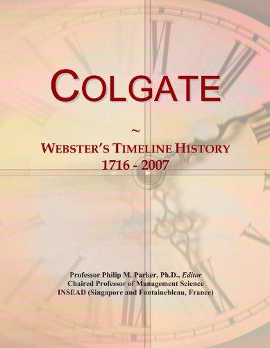 colgate-websters-timeline-history-1716-2007